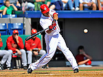 4 March 2012: Washington Nationals shortstop Ian Desmond in action against the Houston Astros at Space Coast Stadium in Viera, Florida. The Astros defeated the Nationals 10-2 in Grapefruit League action. Mandatory Credit: Ed Wolfstein Photo