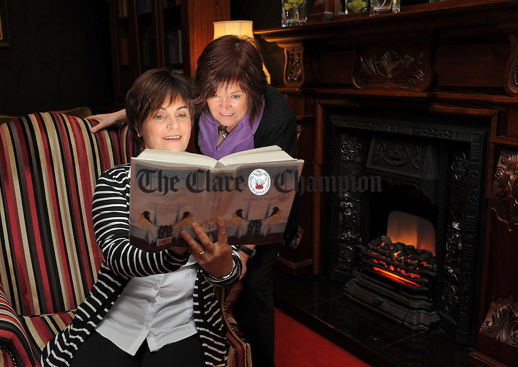 At the launch of Ennis Book Club Festival which runs from 5th to 7th March were Ciana Campbell chairperson Ennis Book Club, and Frances O Gorman, committee member. Photograph  by John Kelly.