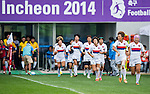 South Korea plays Laos during the17th Asian Games 2014 Rugby Womens Sevens tournament on October 02, 2014 at the Namdong Asiad Rugby Field in Incheon, South Korea. Photo by Alan Siu / Power Sport Images