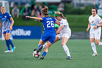 Boston, MA - Friday August 04, 2017: Angela Salem and Maegan Kelly during a regular season National Women's Soccer League (NWSL) match between the Boston Breakers and FC Kansas City at Jordan Field.