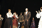 Opening Night with Jeremy Hayes, Norm Lewis (All My Children) and Sierra Boggess who are starring in Phantom of the Opera as the first black Phantom starting on May 12 on Broadway at the Majestic Theatre, New York City, New York  (Photo by Sue Coflin/Max Photos)