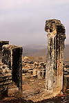 Israel, Lower Galilee, Ruins of Arbel ancient Synagogue.