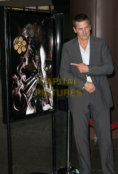 "TIM MATHESON.Warner Home Video Celebrates the ""Dirty Harry"" film franchise with a special screening and reception held at the Directors Guild of America,.Hollywood, California, USA,.29 May 2008..half length pointing finger grey gray suit.CAP/ADM/`CH.©Charles Harris/Admedia/Capital PIctures"