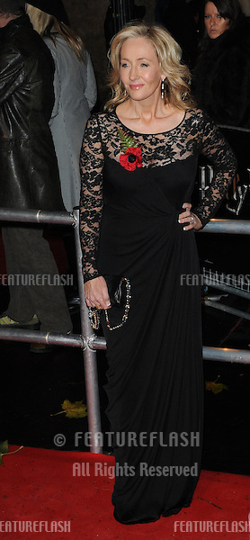 J K Rowling  attends the world premiere of 'Harry Potter and The Deathly Hallows' at Odeon Leicester Square in London..November 11, 2010  London, UK.Picture: Anne-Marie Michel / Featureflash