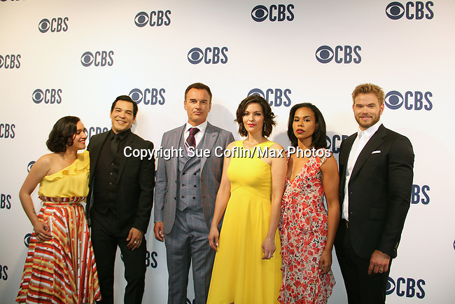 """Julian McMahon """"Ian Rain"""" - Another World and now on CBS FBI Most Wanted with the cast - Keisha Castle-Hughes, Julian McMahon, Alana De La Garza, Roxy Sternberg, Kellan Lutz - CBS Upfront 2019 held in New York City at the Todd English Food Hall on May 15, 2019 with new fall shows  - FBI: Most Wanted. (Photo by Sue Coflin/Max Photos)"""