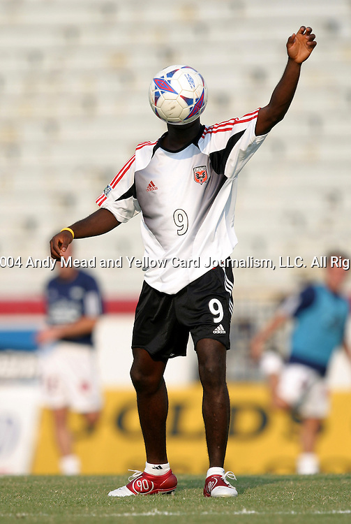 21 July 2004: Freddy Adu. The Richmond Kickers of the A-League defeated DC United of Major League Soccer 2-1 at University of Richmond Stadium in Richmond, VA in a fourth round game in the 2004 Lamar Hunt U.S. Open Cup..