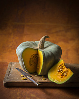 Gastronomie, Courge : Queensland blue // Gastronomy: Cucurbita, Queensland blue