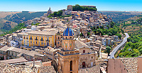 Santa Maria delli'Idria in the foreground and  Ragusa Ibla Sicily behind