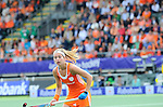 The Hague, Netherlands, June 14: Eva de Goede #24 of The Netherlands in action during the field hockey gold medal match (Women) between Australia and The Netherlands on June 14, 2014 during the World Cup 2014 at Kyocera Stadium in The Hague, Netherlands. Final score 2-0 (2-0)  (Photo by Dirk Markgraf / www.265-images.com) *** Local caption ***