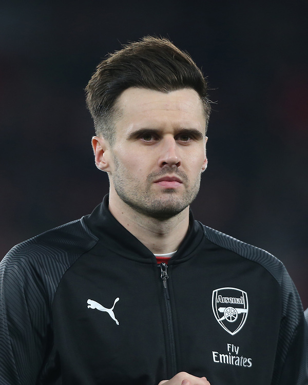 Arsenal's Carl Jenkinson<br /> <br /> Photographer Rob Newell/CameraSport<br /> <br /> UEFA Europa League Group E - Arsenal v FK Qarabag - Thursday 13th December 2018 - Emirates Stadium - London<br />  <br /> World Copyright © 2018 CameraSport. All rights reserved. 43 Linden Ave. Countesthorpe. Leicester. England. LE8 5PG - Tel: +44 (0) 116 277 4147 - admin@camerasport.com - www.camerasport.com