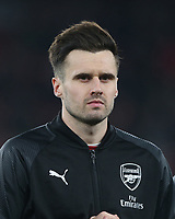 Arsenal's Carl Jenkinson<br /> <br /> Photographer Rob Newell/CameraSport<br /> <br /> UEFA Europa League Group E - Arsenal v FK Qarabag - Thursday 13th December 2018 - Emirates Stadium - London<br />  <br /> World Copyright &copy; 2018 CameraSport. All rights reserved. 43 Linden Ave. Countesthorpe. Leicester. England. LE8 5PG - Tel: +44 (0) 116 277 4147 - admin@camerasport.com - www.camerasport.com