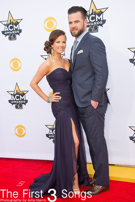 David Nail and Catherine Werne attend the 50th Academy Of Country Music Awards at AT&T Stadium on April 19, 2015 in Arlington, Texas.
