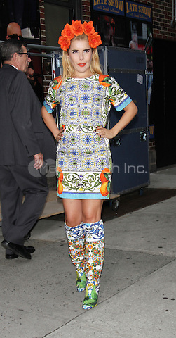 NEW YORK, NY - SEPTEMBER 24: Paloma Faith at Late Show with David Letterman in New York City. Credit: RW/MediaPunch