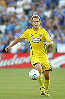 Chad Marshall..Columbus Crew defeated Kansas City Wizards 2-0 at Community America Ballpark, Kansas  City, Kansas.