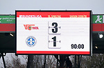 01.12.2018, Stadion an der Wuhlheide, Berlin, GER, 2.FBL, 1.FC UNION BERLIN  VS.SV Darmstadt 98, <br /> DFL  regulations prohibit any use of photographs as image sequences and/or quasi-video<br /> im Bild Endergebnis, Anzeigetafel<br /> <br /> <br />      <br /> Foto &copy; nordphoto / Engler