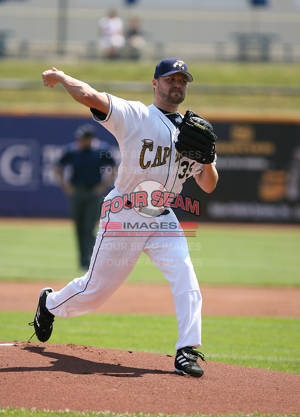 Jake Westbrook of the Lake County Captains vs. the Delmarva Shorebirds: June 14th, 2007 at Classic Park in Eastlake, OH.  Photo by Mike Janes/Four Seam Images