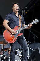 Pictured: Richard Jones of Fireroad. Saturday 13 July 2019<br /> Re: Stereophonics live concert at the Singleton Park in Swansea, Wales, UK.