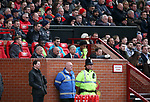 Arsene Wenger manager of Arsenal sits in the dugout for the last time as Arsenal manager during the premier league match at the Old Trafford Stadium, Manchester. Picture date 29th April 2018. Picture credit should read: Simon Bellis/Sportimage