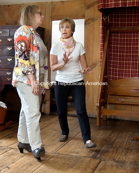 WOODBURY CT. 02 May 2015-050215SV01-Judith Kels, director, show ice skater Dorothy Hamill, the honorary chairwoman of the annual Glebe House fundraiser, the house in Woodbury Saturday. <br /> Steven Valenti Republican-American