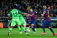 30th January 2020; Camp Nou, Barcelona, Catalonia, Spain; Copa Del Rey Football, Barcelona versus Leganes; Lionel Messi of FC Barcelona gets into a position to shoot and score in the 59th minute for 3-0