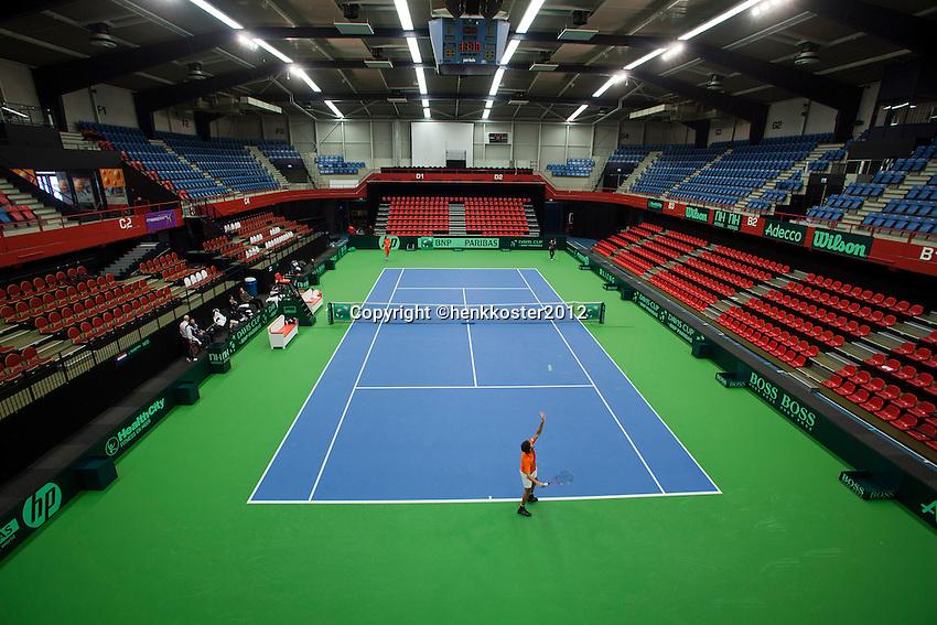 07-02-12, Netherlands,Tennis, Den Bosch, Daviscup Netherlands-Finland, Overzicht
