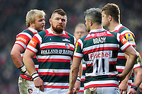 Michele Rizzo of Leicester Tigers looks on during a break in play. Aviva Premiership match, between Leicester Tigers and Gloucester Rugby on February 11, 2017 at Welford Road in Leicester, England. Photo by: Patrick Khachfe / JMP