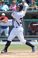 Tennessee Smokies Blake Lalli #32 swings at a pitch during a game against the Tennessee Mobile BayBears Park in Kodak,  Tennessee;  May 22, 2011.  The Smokies won the game 4-2.  Photo By Tony Farlow/Four Seam Images