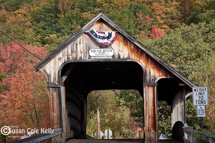 Squam River covered bridge, Holderness, NH