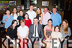 Michael Cronin, The Narrow Road, Fossa seated centre who celebrated his 60th birthday with his family and friends in the Sportsman bar Killarney on friday night