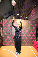 06.08.2015 Silver Ferns Casey Kopua visits the Fan Fest ahead of the 2015 Netball World Champs at All Phones Arena in Sydney, Australia. Mandatory Photo Credit ©Michael Bradley.