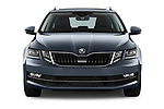 Car photography straight front view of a 2017 Skoda Octavia Style 5 Door Wagon Front View