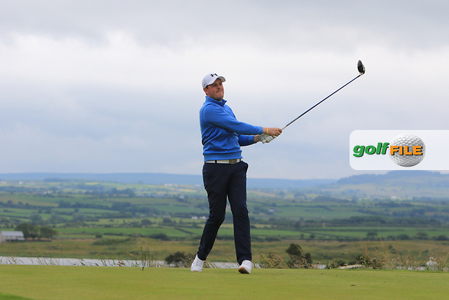 Matthew McLean (Malone) on the 18th tee during Round 2 of the North of Ireland Amateur Open Championship 2019 at Portstewart Golf Club, Portstewart, Co. Antrim on Tuesday 9th July 2019.<br /> Picture:  Thos Caffrey / Golffile<br /> <br /> All photos usage must carry mandatory copyright credit (© Golffile | Thos Caffrey)