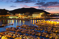 Spain, Gran Canaria, Puerto Rico: View over Marina at dawn |Spanien, Gran Canaria, Puerto Rico: Yachthafen am Abend