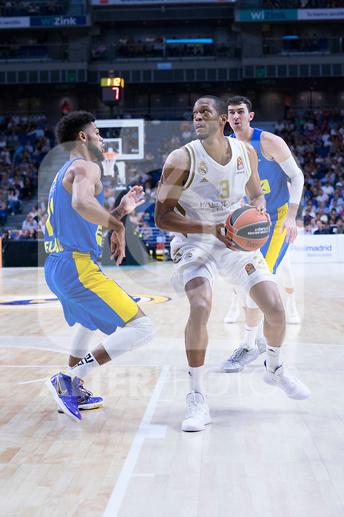 Anthony Randolph during Real Madrid vs Maccabi Fox of Day 2 of Euroleague Basketball. October 10, 2019. (ALTERPHOTOS/Francis Gonzalez)
