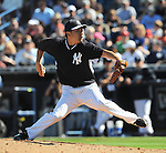 Masahiro Tanaka (Yankees), MARCH 1, 2014 - MLB : MLB spring training baseball game between New York Yankees and Philadelphia Phillies in Tampa, Florida, United States. (Photo by AFLO)