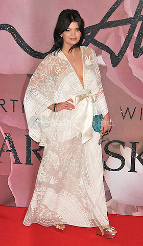 Pixie Geldof at the Fashion Awards 2016, Royal Albert Hall, Kensington Gore, London, England, UK, on Monday 05 December 2016. <br /> CAP/CAN<br /> ©CAN/Capital Pictures /MediaPunch ***NORTH AND SOUTH AMERICAS ONLY***