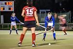Ruesselsheim, Germany, October 11: During the 1. Hockey Bundesliga women match between Ruesselsheimer RK and Mannheimer HC on October 11, 2019 at Ruesselsheimer RK in Ruesselsheim, Germany. Final score 1-3. (Copyright Dirk Markgraf / 265-images.com) *** Naomi Heyn #20 of Mannheimer HC