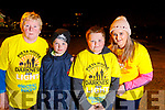 Margaret Sheehan with Jack, Josh and Theresa Greaney, all from Kilflynn, pictured at the Darkness into Light walk in Tralee on Saturday morning last.