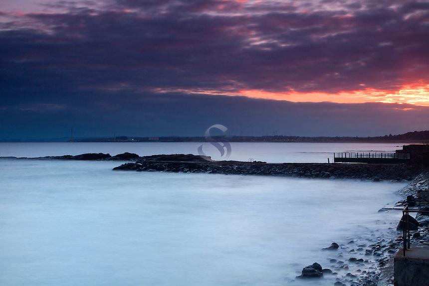 Lower Largo at dusk, the East Neuk of Fife, Fife