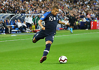 Kylian Mbappe (Frankreich, France)- 16.10.2018: Frankreich vs. Deutschland, 4. Spieltag UEFA Nations League, Stade de France, DISCLAIMER: DFB regulations prohibit any use of photographs as image sequences and/or quasi-video.