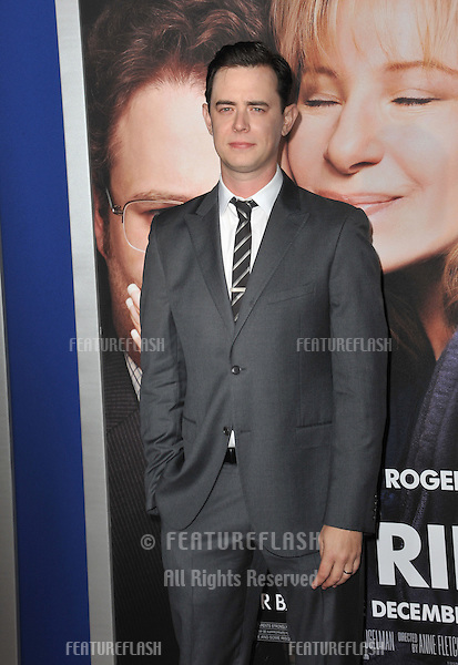 "Colin Hanks at the Los Angeles premiere of his movie ""Guilt Trip"" at the Regency Village Theatre, Westwood..December 11, 2012  Los Angeles, CA.Picture: Paul Smith / Featureflash"