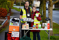 BNPS.co.uk (01202 558833)<br /> Pic: BNPS<br /> <br /> Pictured: Luke Bird and Rebecca Hobby<br /> <br /> Volunteers who serve homeless people with hot meals cooked in their own homes have been shut down by council bureaucrats.<br /> <br /> The group of public-spirited cooks were told they had to have a food hygiene certificate before they could hand out the free food to starving people.<br /> <br /> They claim they were even threatened with prosecution by a police officer if they didn't do as they were told.<br /> <br /> The service has been run by Luke Bird and Rebecca Hobby every Monday and Friday lunchtime for the last four years in Dorchester, Dorset, with no complaints.