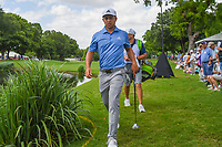 Xander Schauffele (USA) approaches the green on 9 during round 1 of the 2019 Charles Schwab Challenge, Colonial Country Club, Ft. Worth, Texas,  USA. 5/23/2019.<br /> Picture: Golffile | Ken Murray<br /> <br /> All photo usage must carry mandatory copyright credit (© Golffile | Ken Murray)