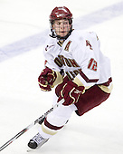 Ben Smith (BC - 12) - The Boston College Eagles defeated the University of Massachusetts-Amherst Minutemen 6-5 on Friday, March 12, 2010, in the opening game of their Hockey East Quarterfinal matchup at Conte Forum in Chestnut Hill, Massachusetts.