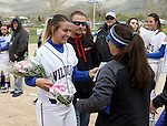 Druelle Kierstead at the Sophomore Day celebration after the first game of the Western Nevada College softball doubleheader on Saturday, April 30, 2016 at Pete Livermore Sports Complex. Photo by Shannon Litz/Nevada Photo Source