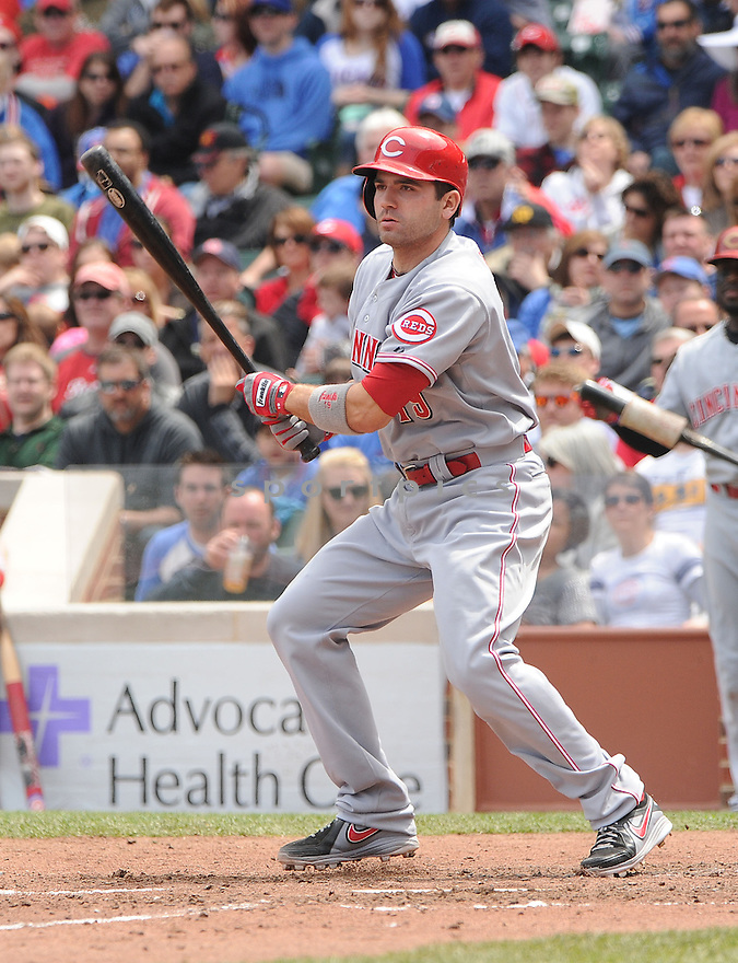Cincinnati Reds Joey Votto (19) during a game against the Chicago Cubs on May 4, 2013 at Wrigley Field in Chicago, IL. The Reds beat the Cubs 6-4.