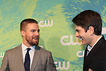 Stephen Amell - (Arrow) & Brandon Routh (DC's Legends of Tomorrow) - The CW Upfront - Red Carpet Arrivals on May 19, 2016 at t he London Hotel, New York City, New York. (Photo by Sue Coflin/Max Photos)