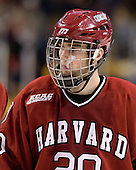 Louis Leblanc (Harvard - 20) - The Boston College Eagles defeated the Harvard University Crimson 6-0 on Monday, February 1, 2010, in the first round of the 2010 Beanpot at the TD Garden in Boston, Massachusetts.
