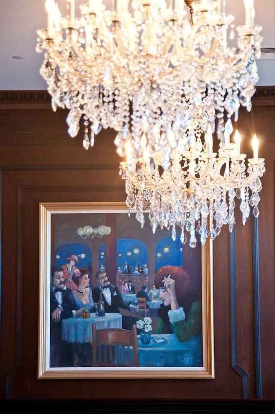 Interior of The Landmark Inn, an historic hotel in Marquette Michigan.