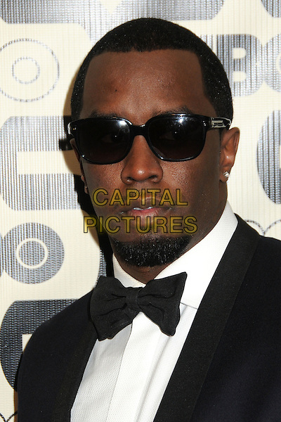 Sean Combs, Diddy.HBO's 70th Annual Golden Globes After Party held at Circa 55 Restaurant, Beverly Hills, California, USA..January 13th, 2013.globe headshot portrait p puff daddy white white black bow tie tuxedo goatee facial hair  .CAP/ADM/BP.©Byron Purvis/AdMedia/Capital Pictures.